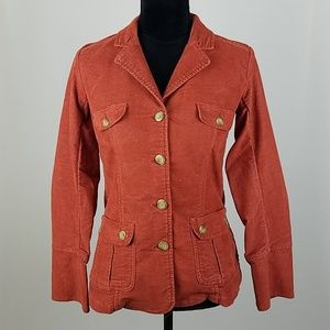 Sundance women XS corduroy button front jacket